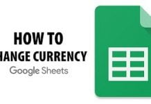 How to set the Default Currency in Google Sheets?